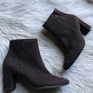 New Paul Green Short Brown Suede Ankle Boots 3.5 6
